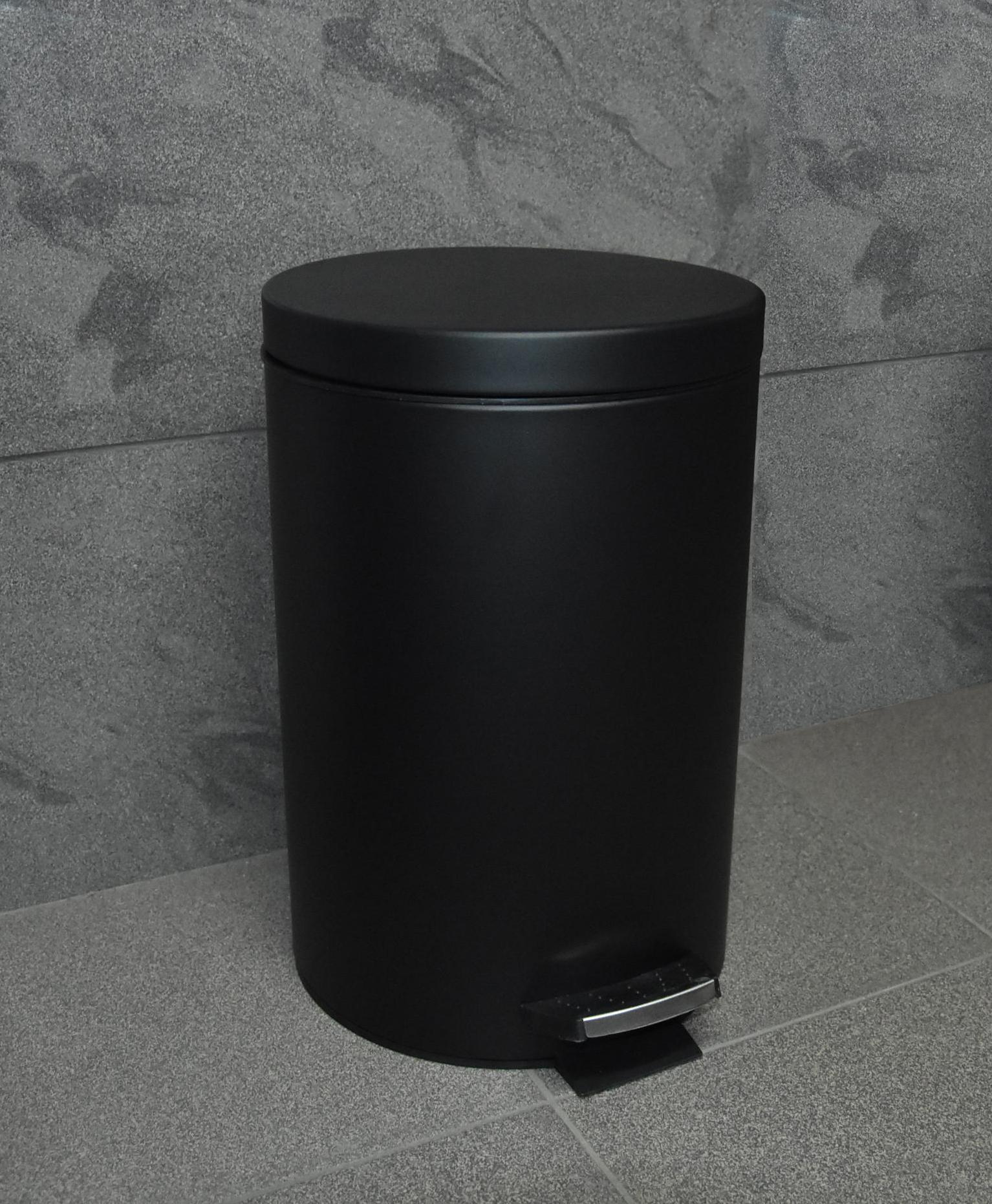 Kosz Na śmieci łazienkowy Czarny 5l Pedałowy