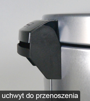 Łatwe przenoszenie kosza metalowego za pomocą wbudowanego uchwytu
