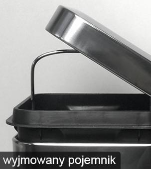 wyjmowany kosz z uchwytem do łatwego opróżniania ze śmieci