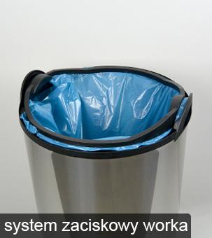system zaciskowy w koszopopielnicy meliconi ułatwia montaż worka na śmieci