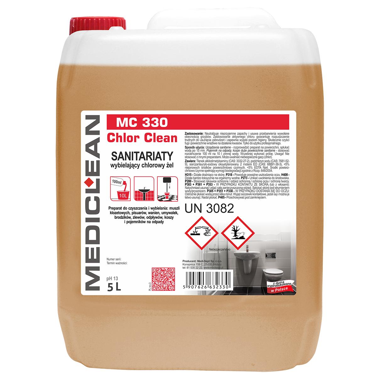 Mediclean Chlor Clean Wybielający żel Do łazienek I Wc 5l