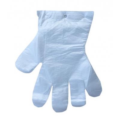 Rękawice foliowe bezbarwne zszyte 100 sztuk