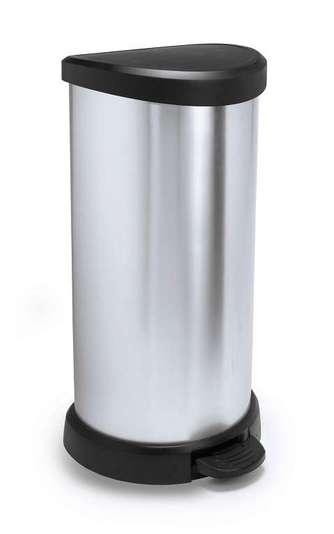Niewiarygodnie Kosz na śmieci z pedałem 40l metalizowany 181125 - Sklep OV83