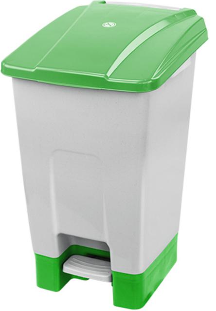 Tylko na zewnątrz Kosz na śmieci otwierany przyciskiem pedałowym 70 L zielony KP70-Z UX97