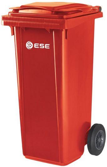 Nietypowy Okaz Pojemnik na odpady czerwony 120 l ese • Cena 149 zł ESE/120/RED AP74